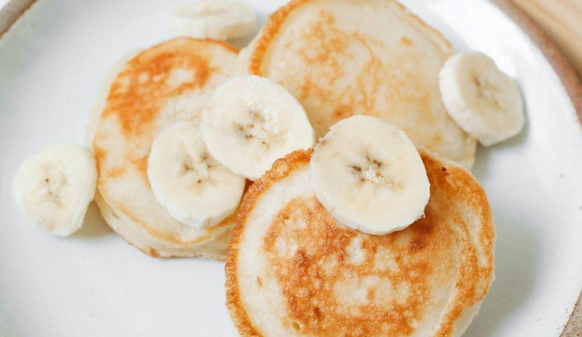 Sockerfri bananpannkaka för bebis